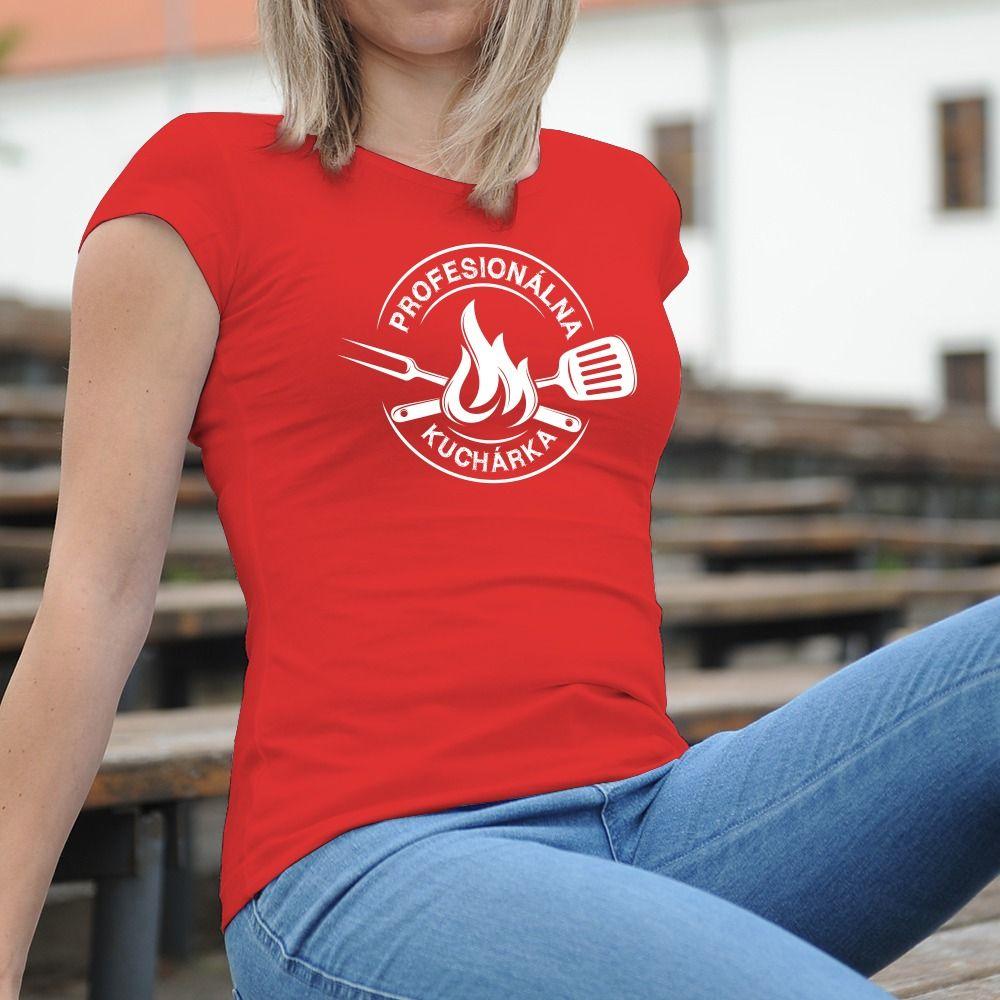Dámske tričko s potlačou kuchárka
