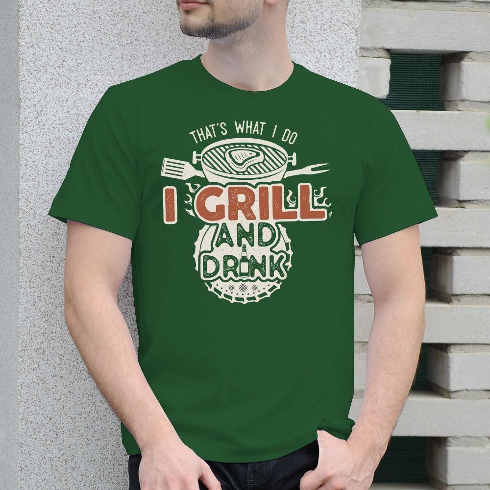 Pánske tričko s potlačou grill