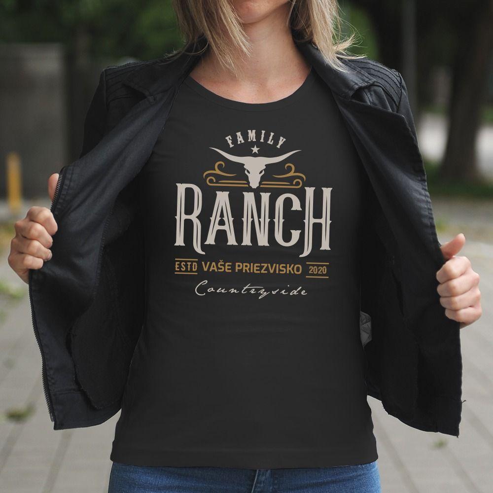 Dámske tričko s potlačou Ranč