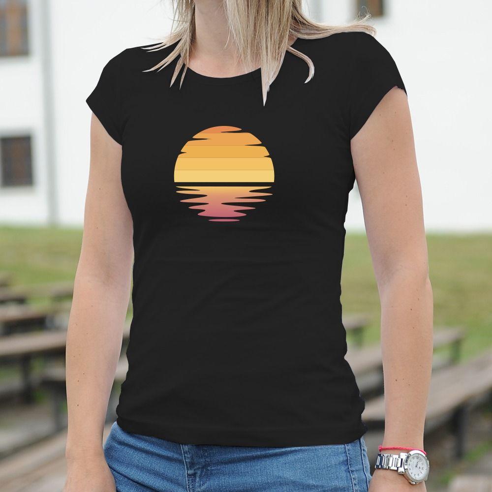 Dámske tričko s potlačou Sunset