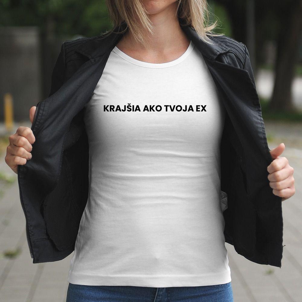 Dámske tričko s potlačou Krajšia