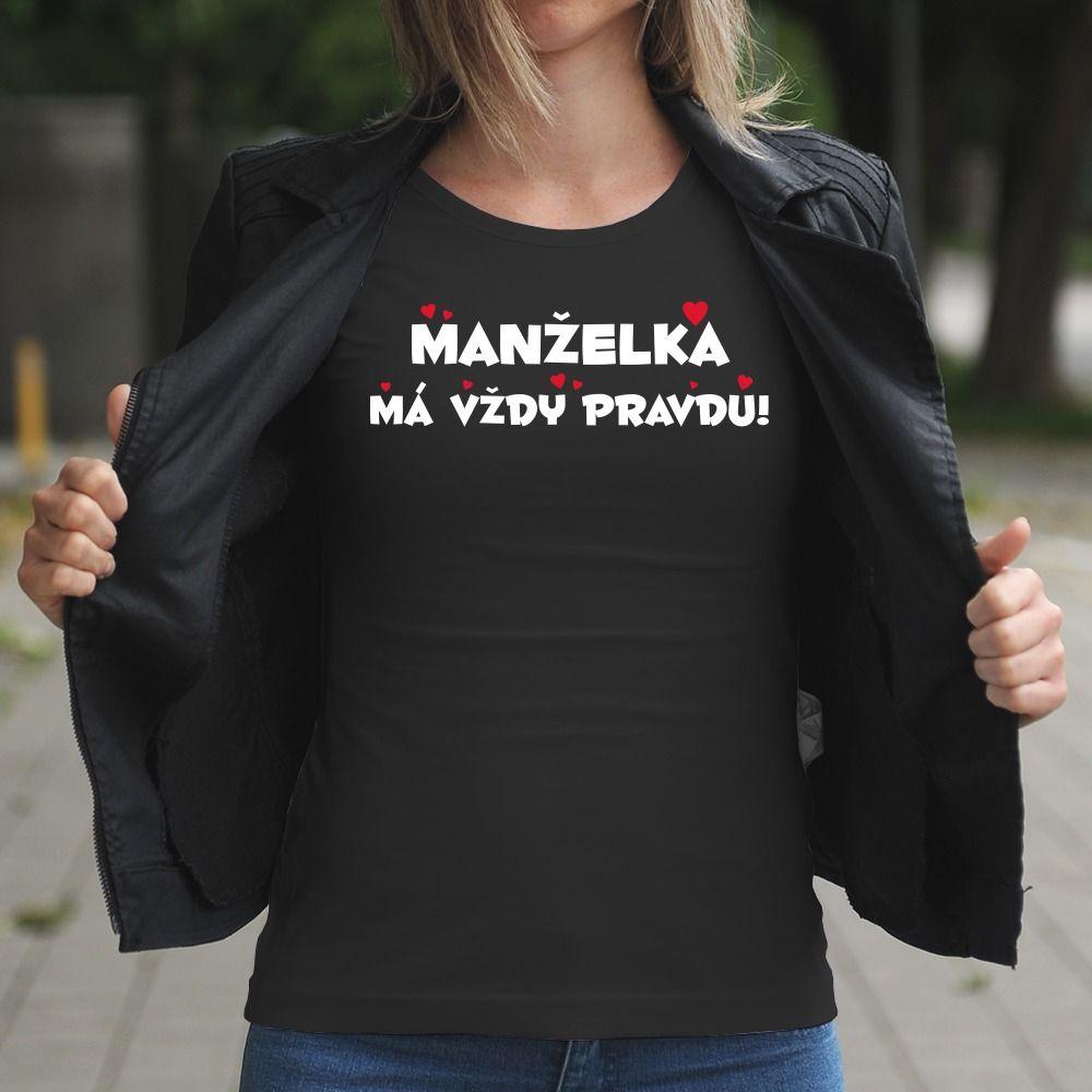 Dámske tričko s potlačou Manželka