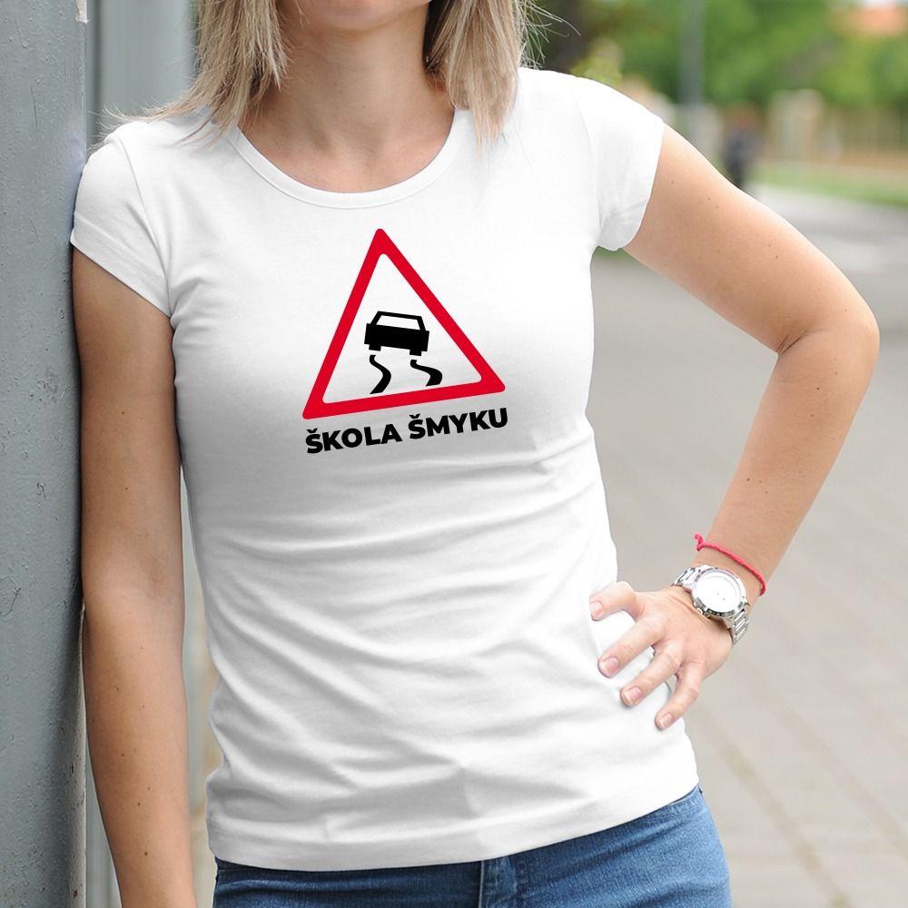 Dámske tričko s potlačou Škola šmyku