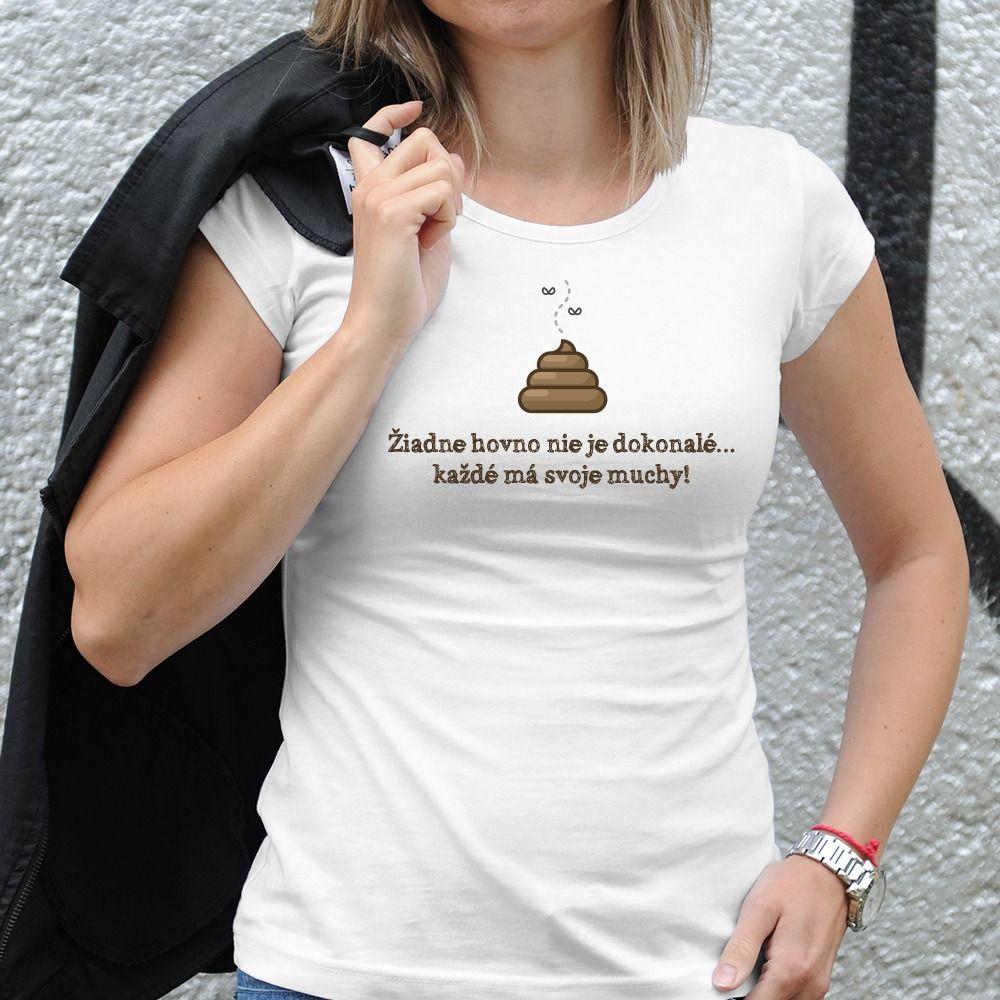 Dámske tričko s potlačou Hovno