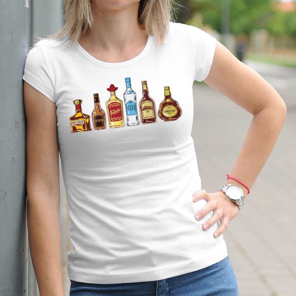 Dámske tričko s potlačou Alkohol