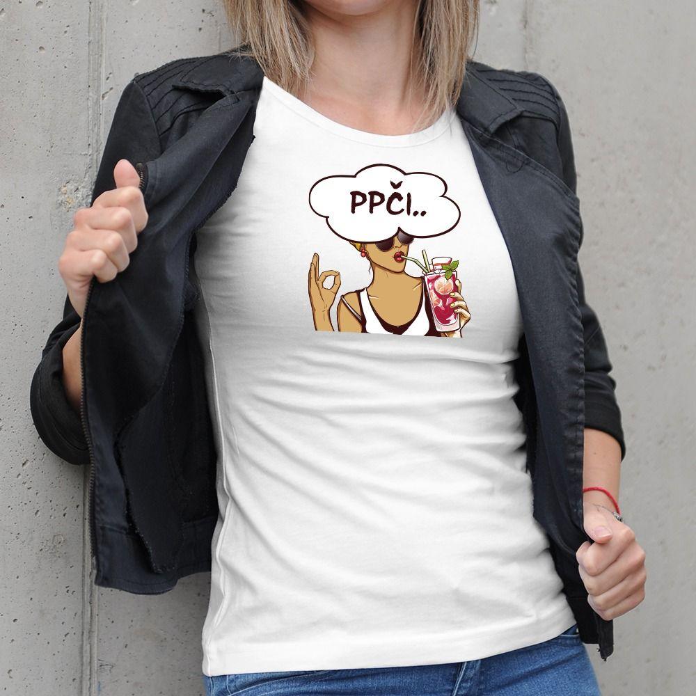 Dámske tričko s potlačou ppci
