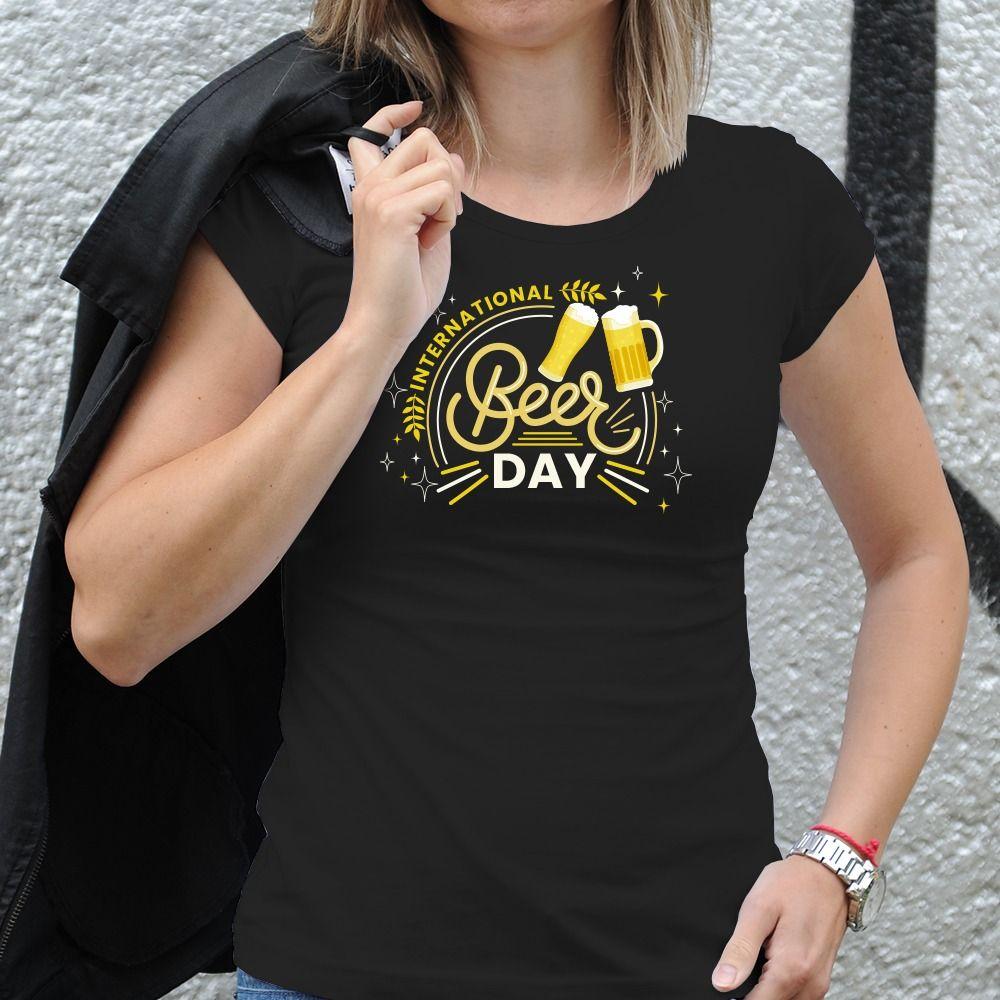 Dámske tričko s potlačou Pivo
