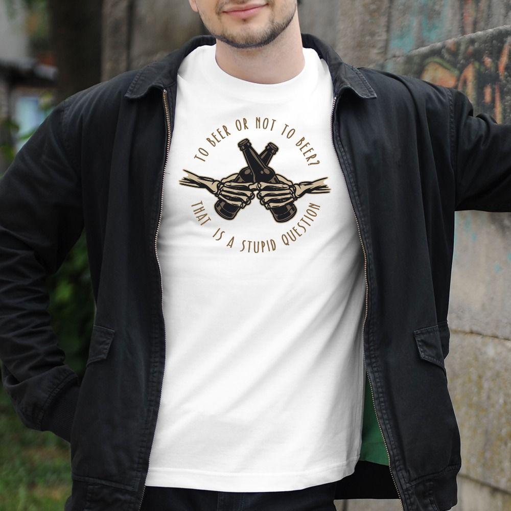 Pánske tričko s potlačou Pivo