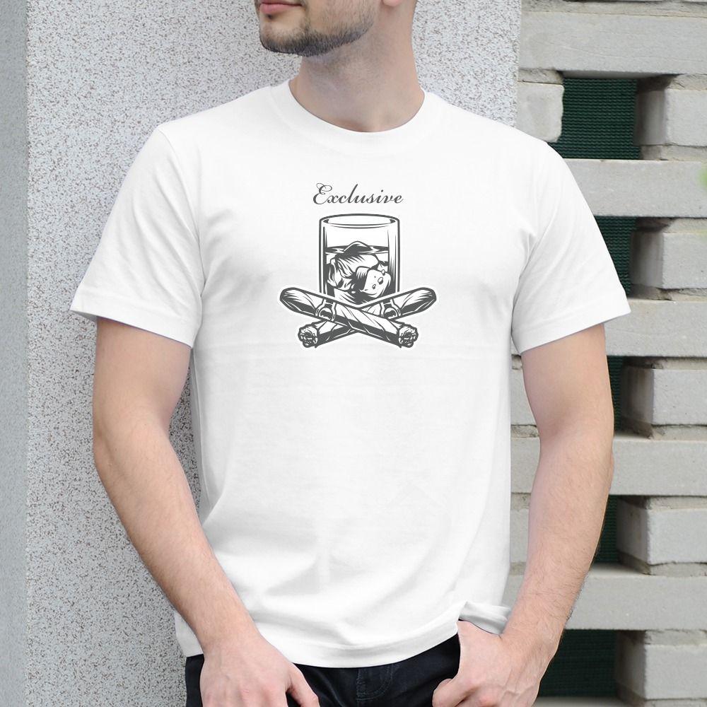 Pánske tričko s potlačou Whisky