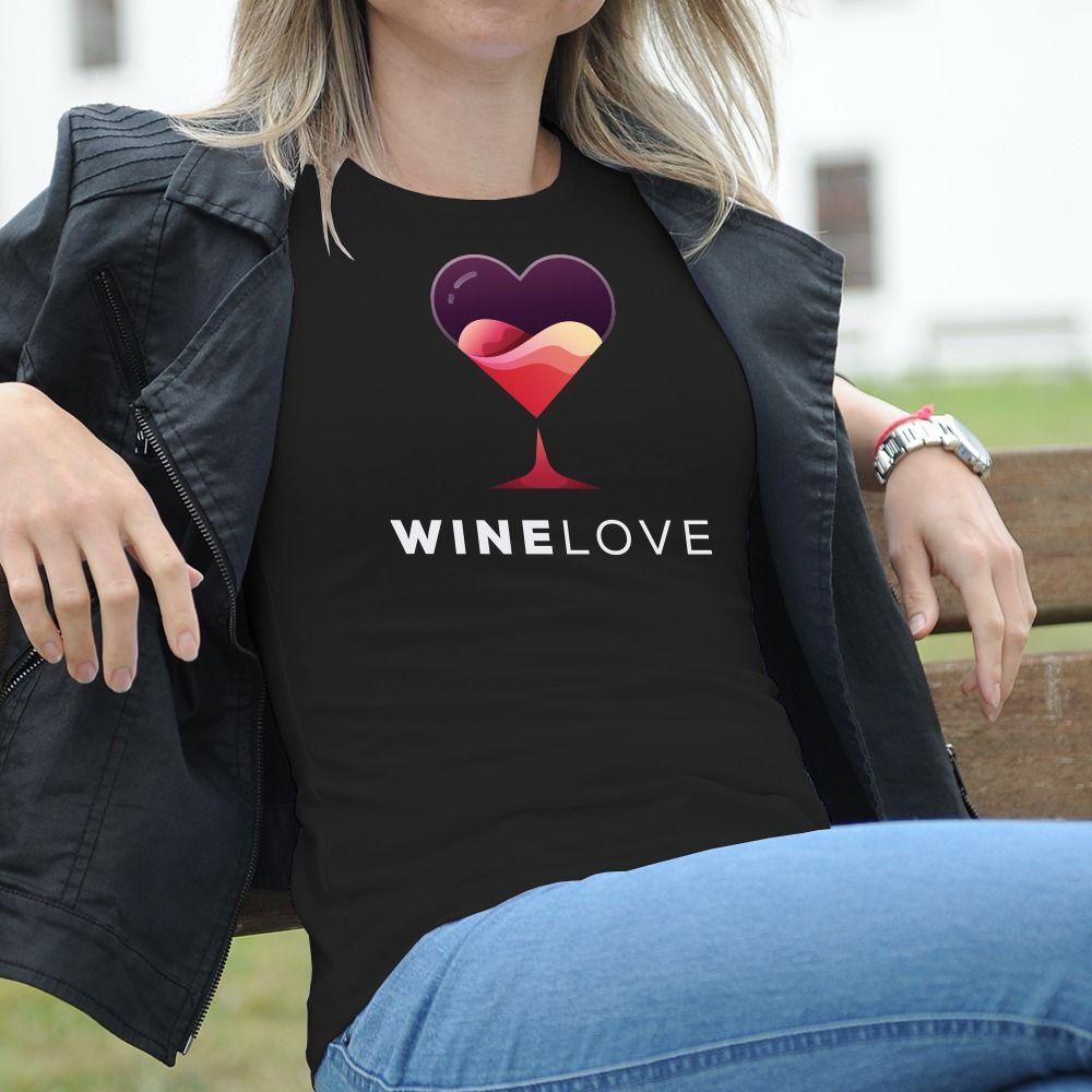 Dámske tričko s potlačou Víno