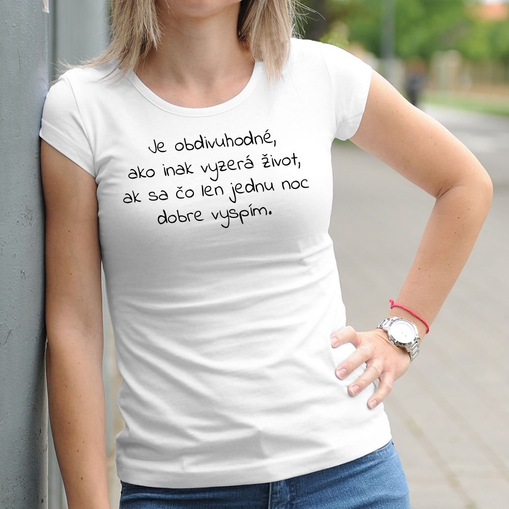 Dámske tričko s potlačou Vtip