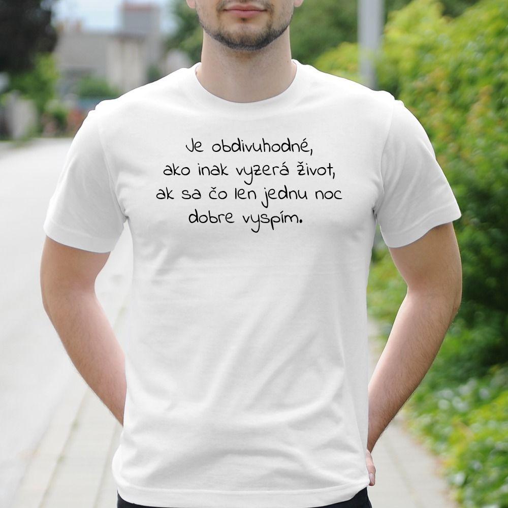 Pánske tričko s potlačou Vtip