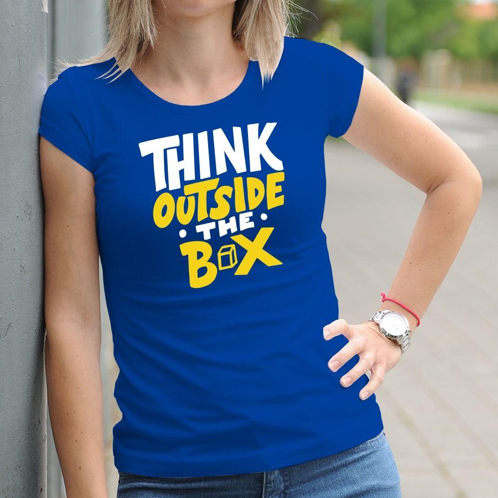 Dámske tričko s potlačou Outside