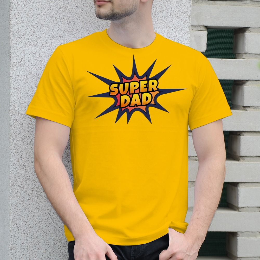 Pánske tričko s potlačou Super dad