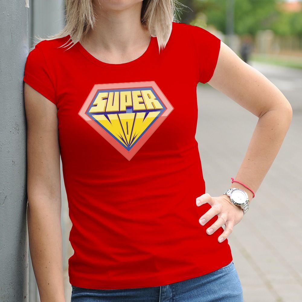 Dámske tričko s potlačou Super mama