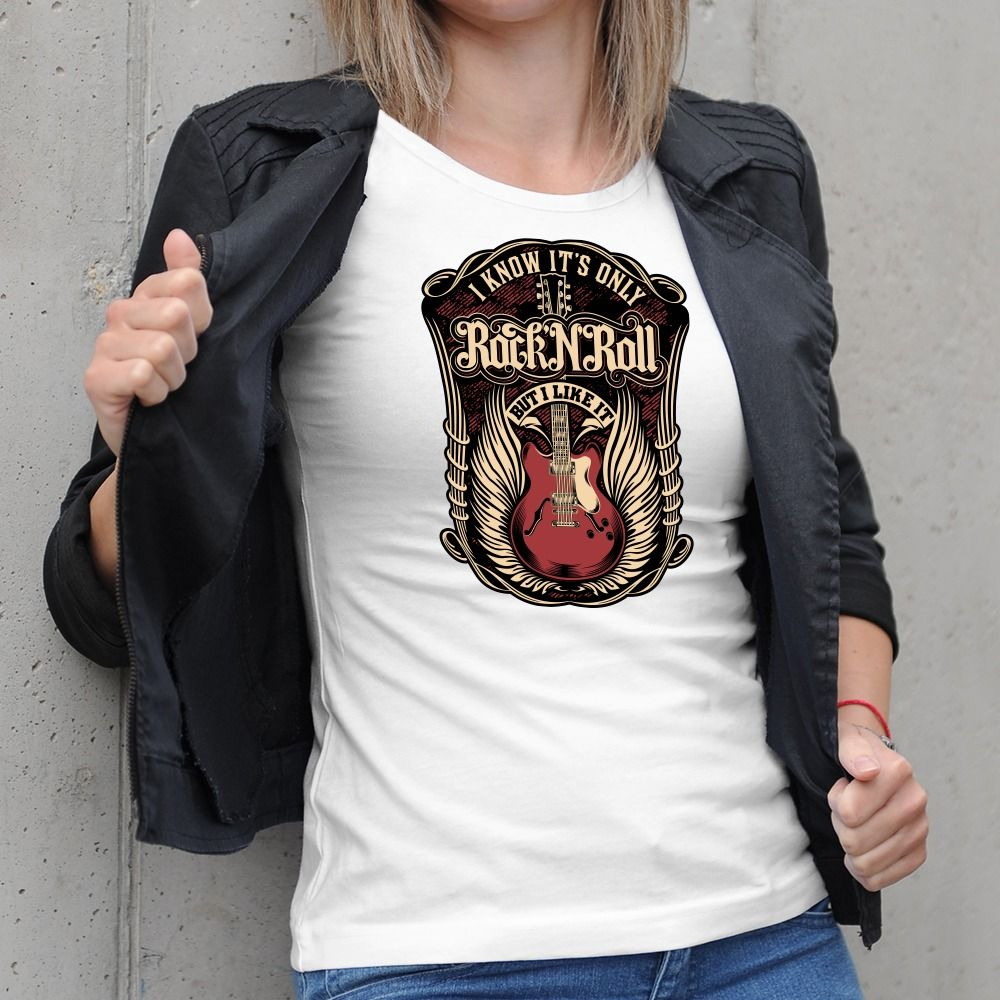 Dámske tričko s potlačou RockNRoll