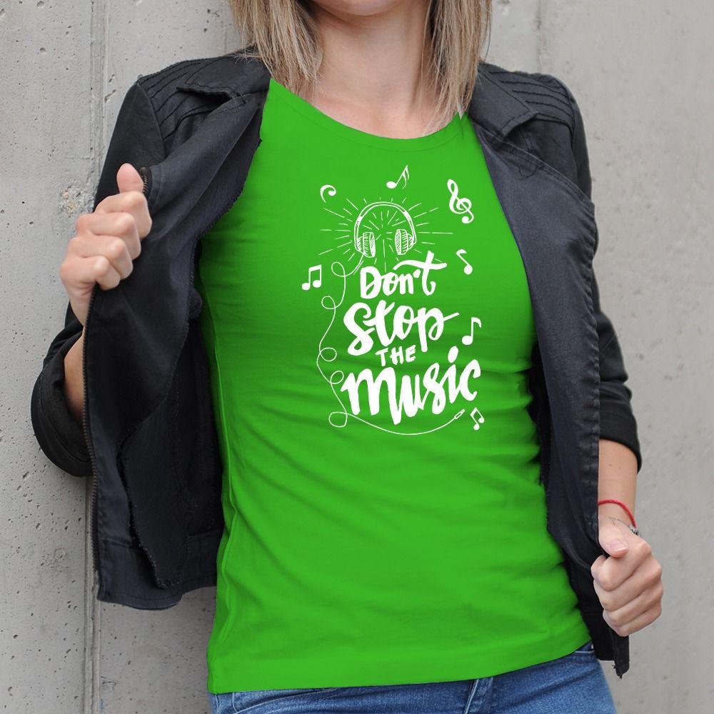 Dámske tričko s potlačou Musical