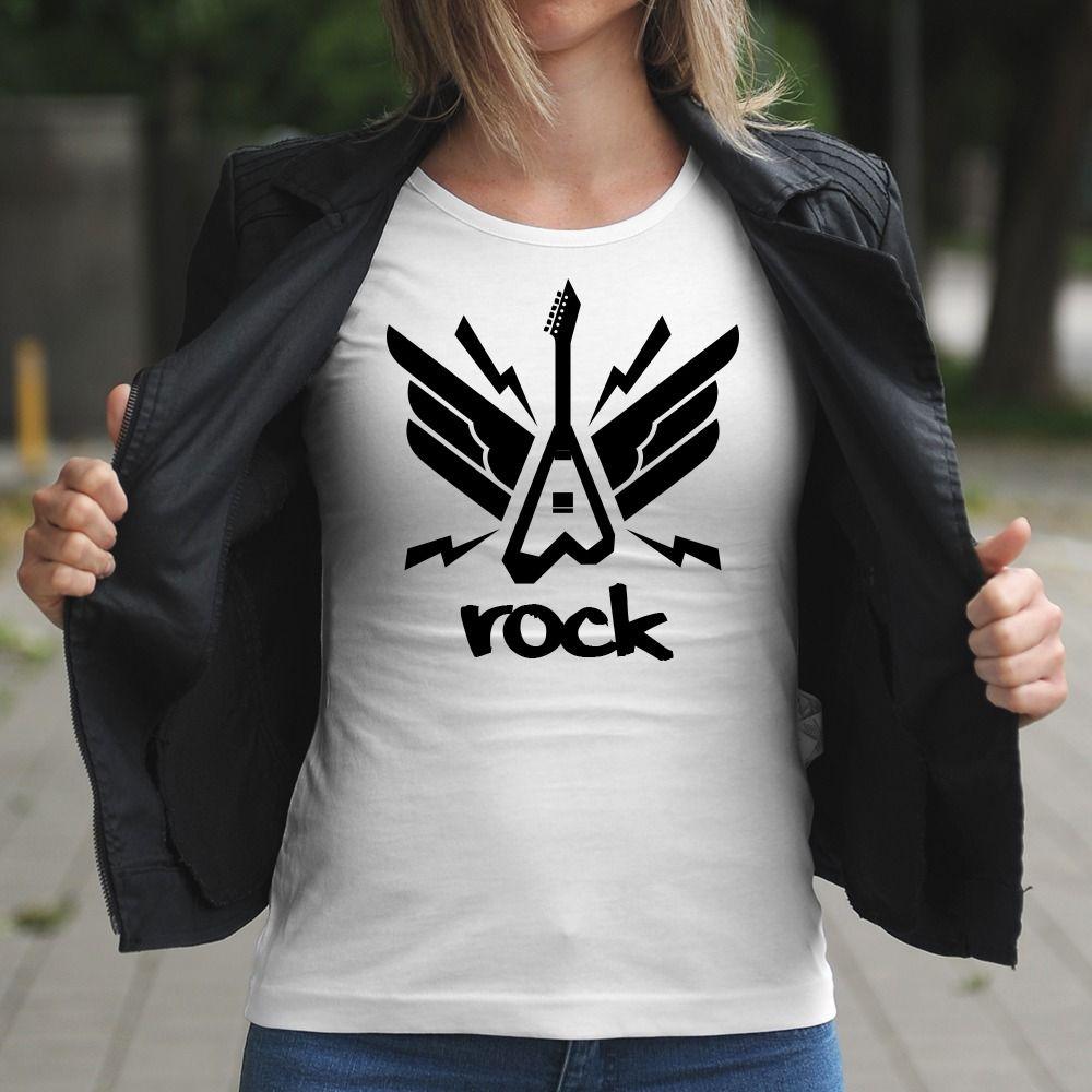 Dámske tričko s potlačou Rock