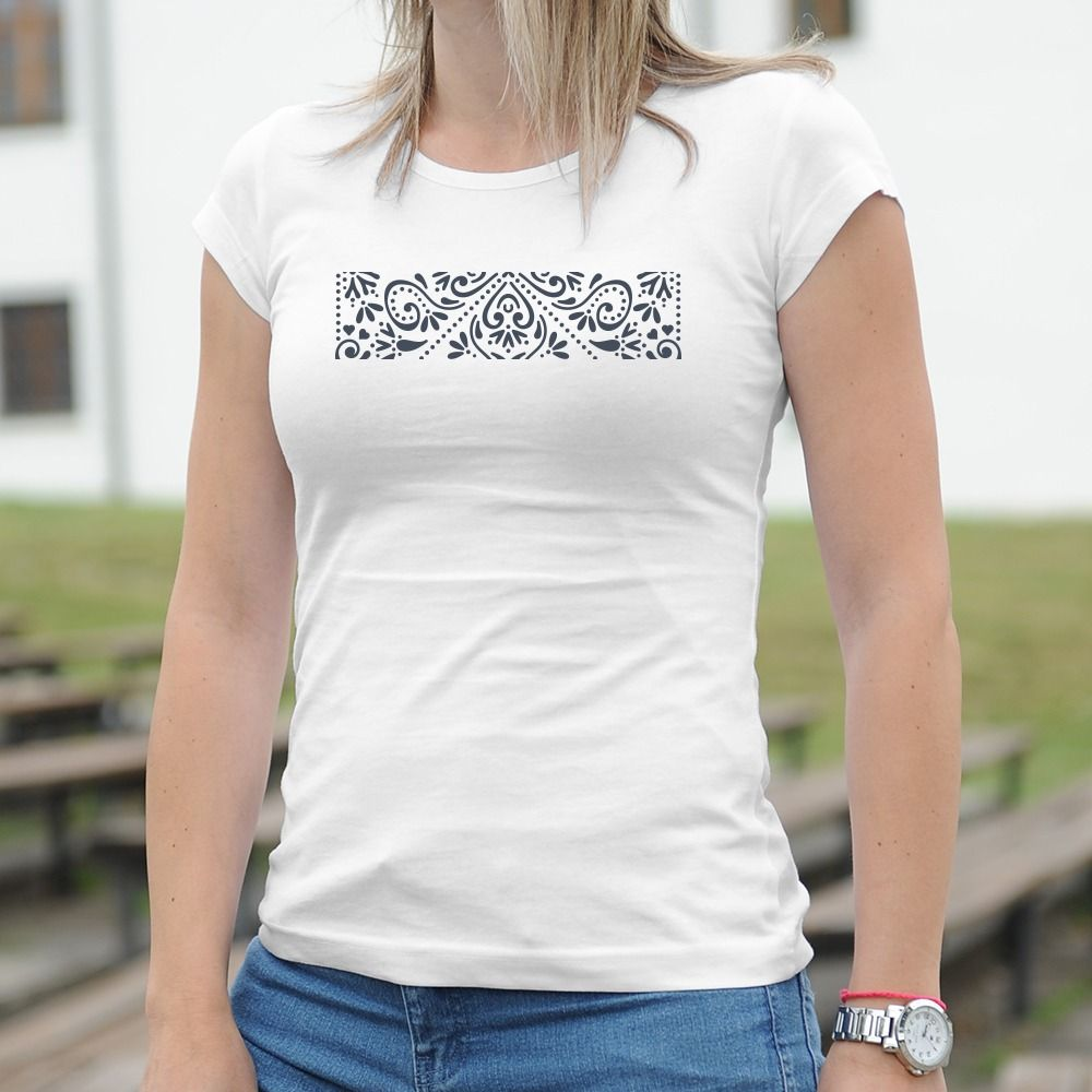 Dámske tričko s potlačou Ľudový motív