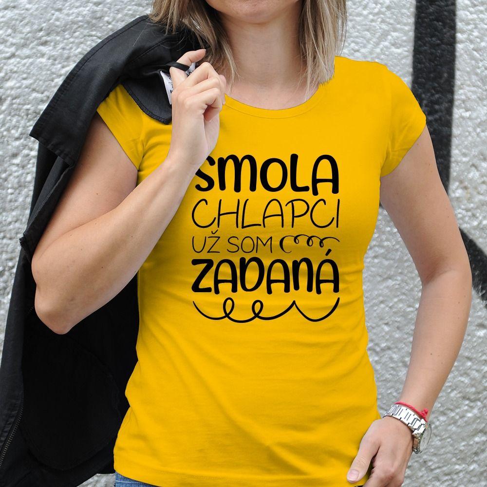 Dámske tričko s potlačou Zadaná