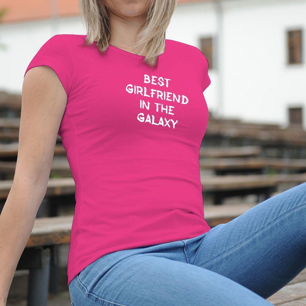 Dámske tričko s potlačou Best girlfriend
