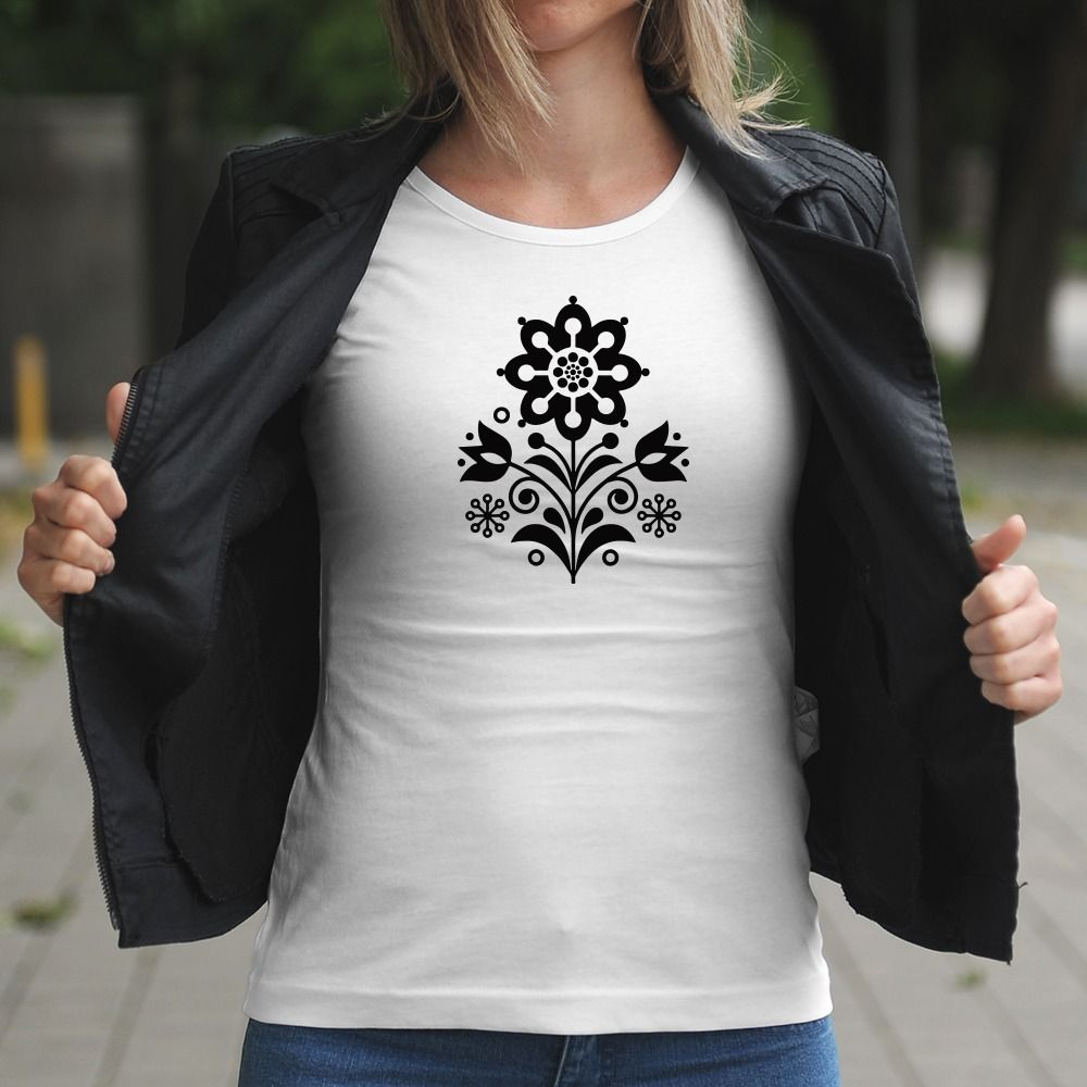 Dámske tričko s potlačou Kvet