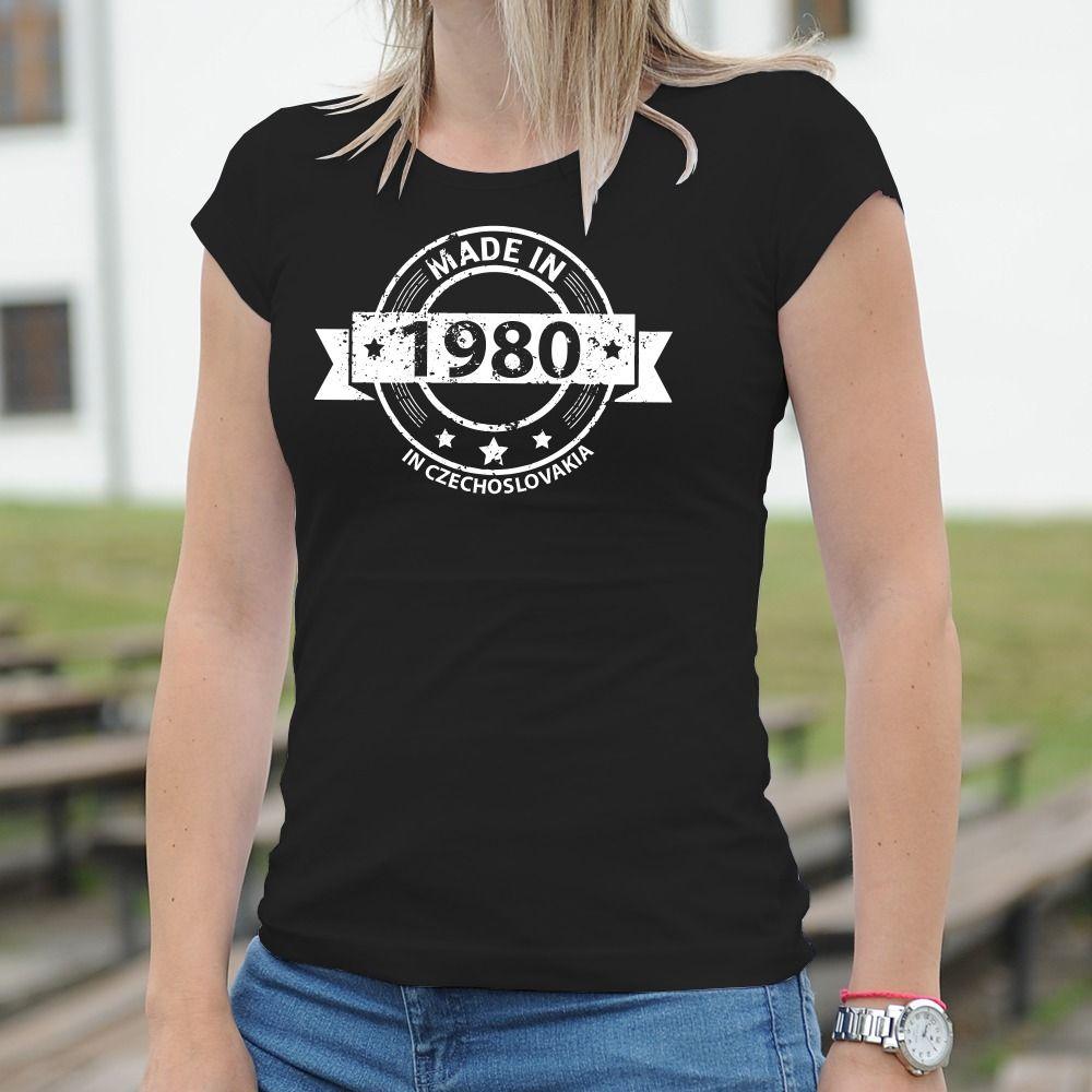 Dámske tričko s potlačou Czechoslovakia