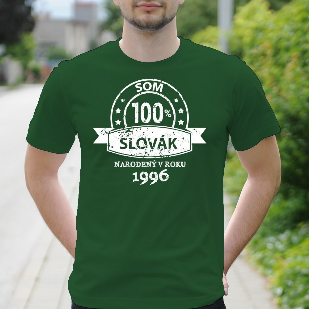 Pánske tričko s potlačou 100% Slovák