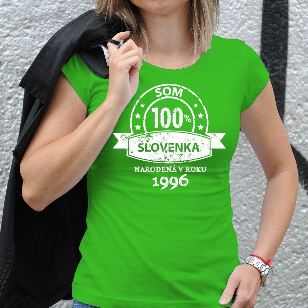 Dámske tričko s potlačou 100% Slovenka