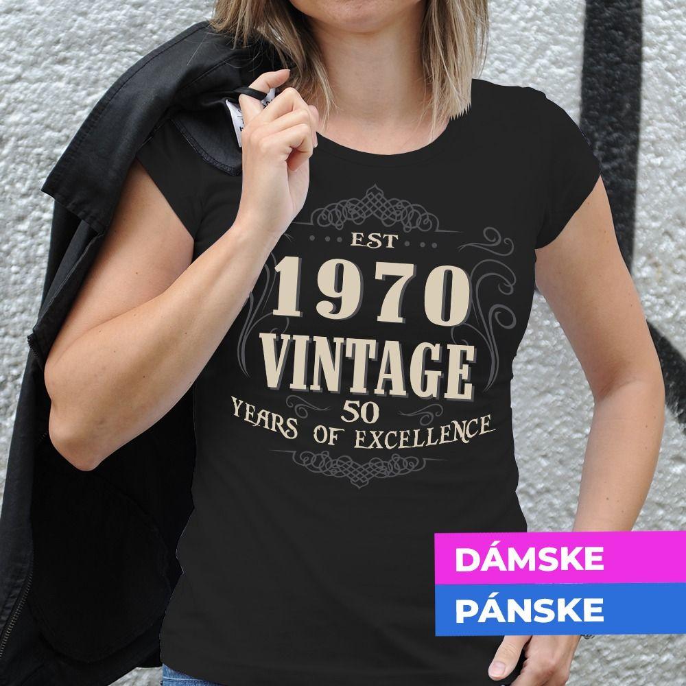 Tričko s potlačou Vintage