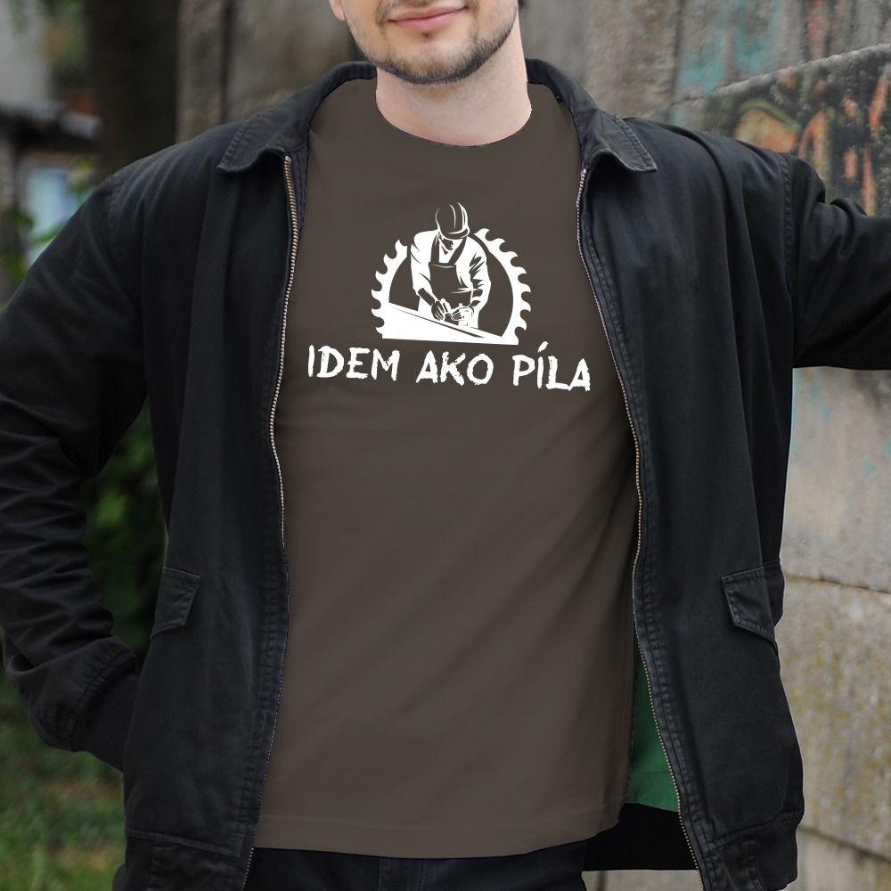 Pánske tričko s potlačou Idem ako píla