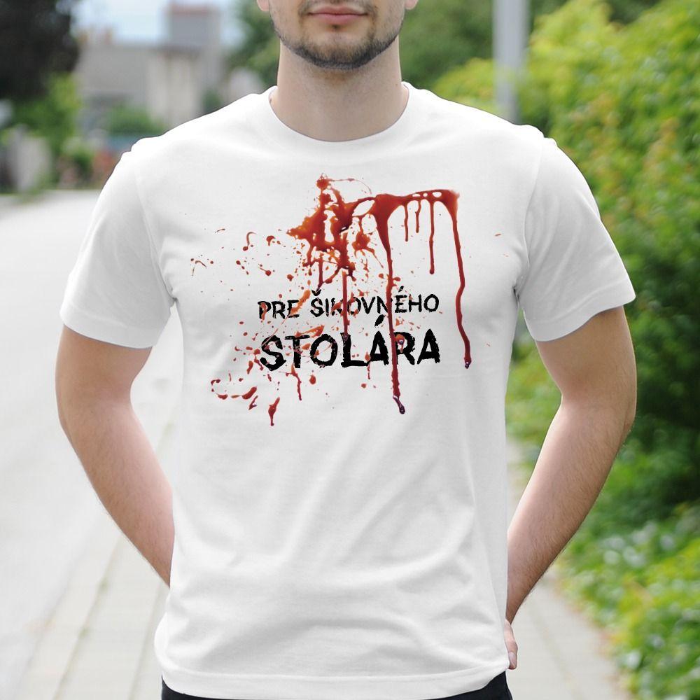 Pánske tričko s potlačou Stolár