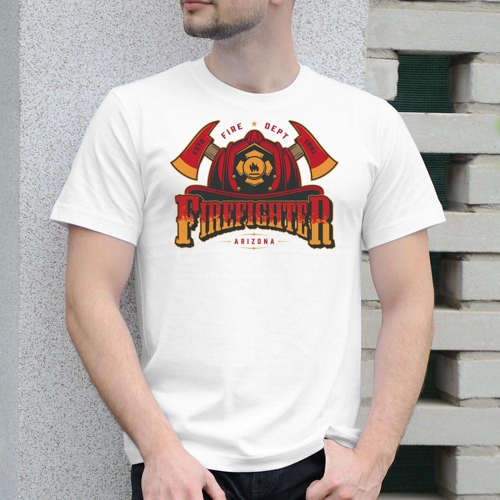 Pánske tričko s potlačou Firefighter