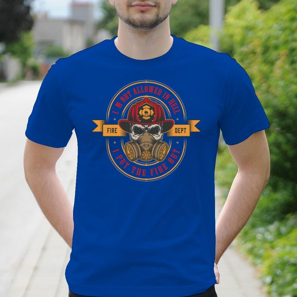 Pánske tričko s potlačou Fireman