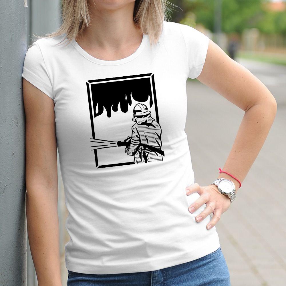 Dámske tričko s potlačou Hasička