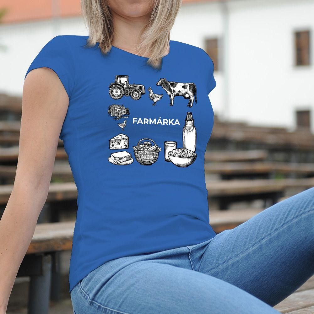 Dámske tričko s potlačou Farmárka
