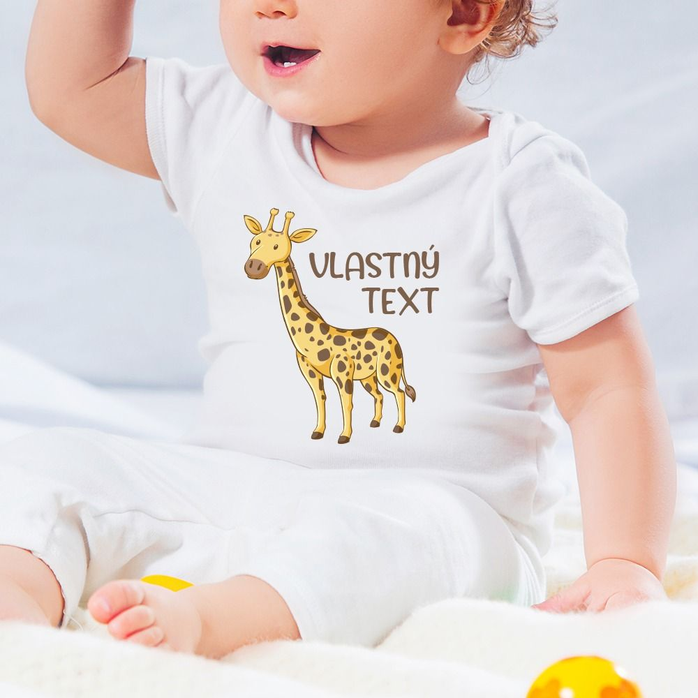 Detské body s potlačou žirafa