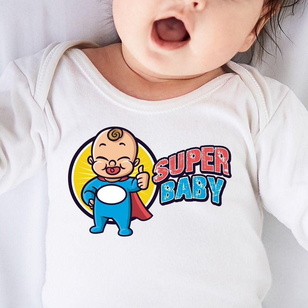 Detské body s potlačou Super baby