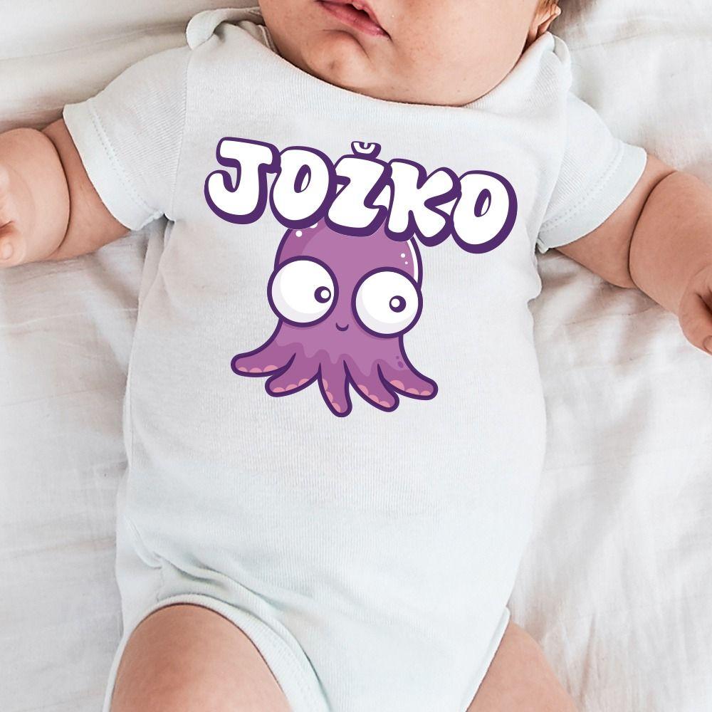 Detské body s potlačou chobotnica