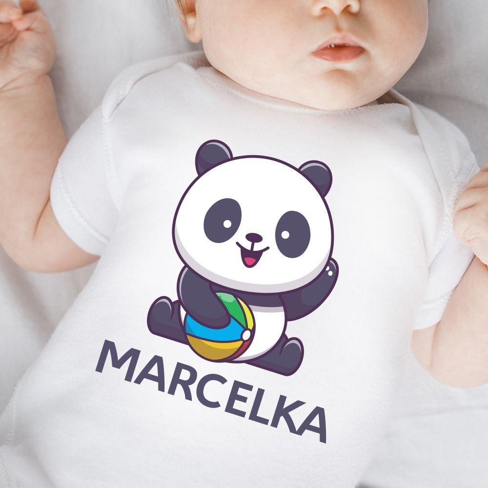 Detské body s potlačou Panda
