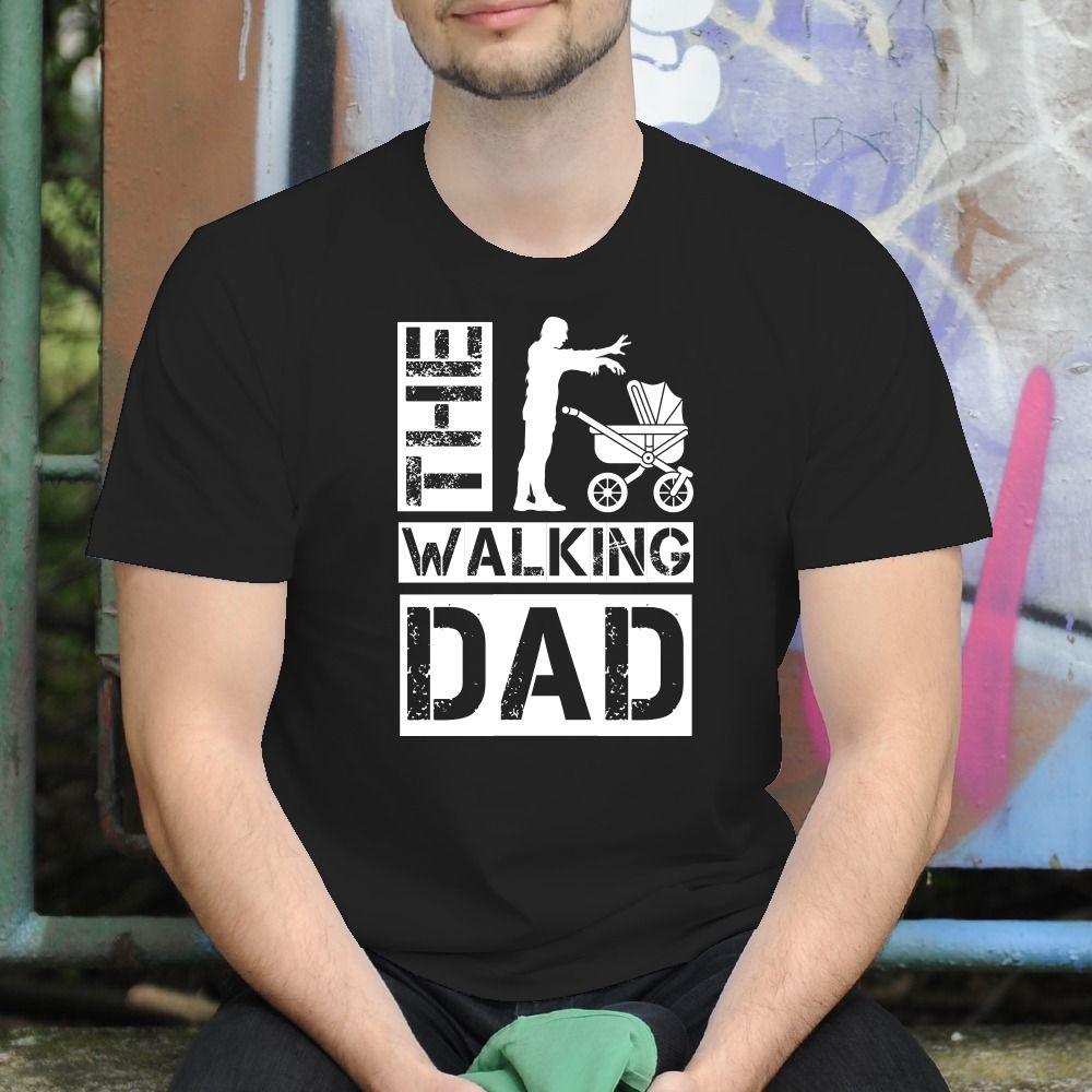 Pánske tričko s potlačou The Walking dad