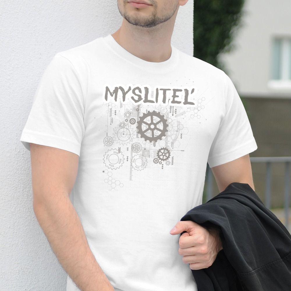 Pánske tričko s potlačou Mysliteľ