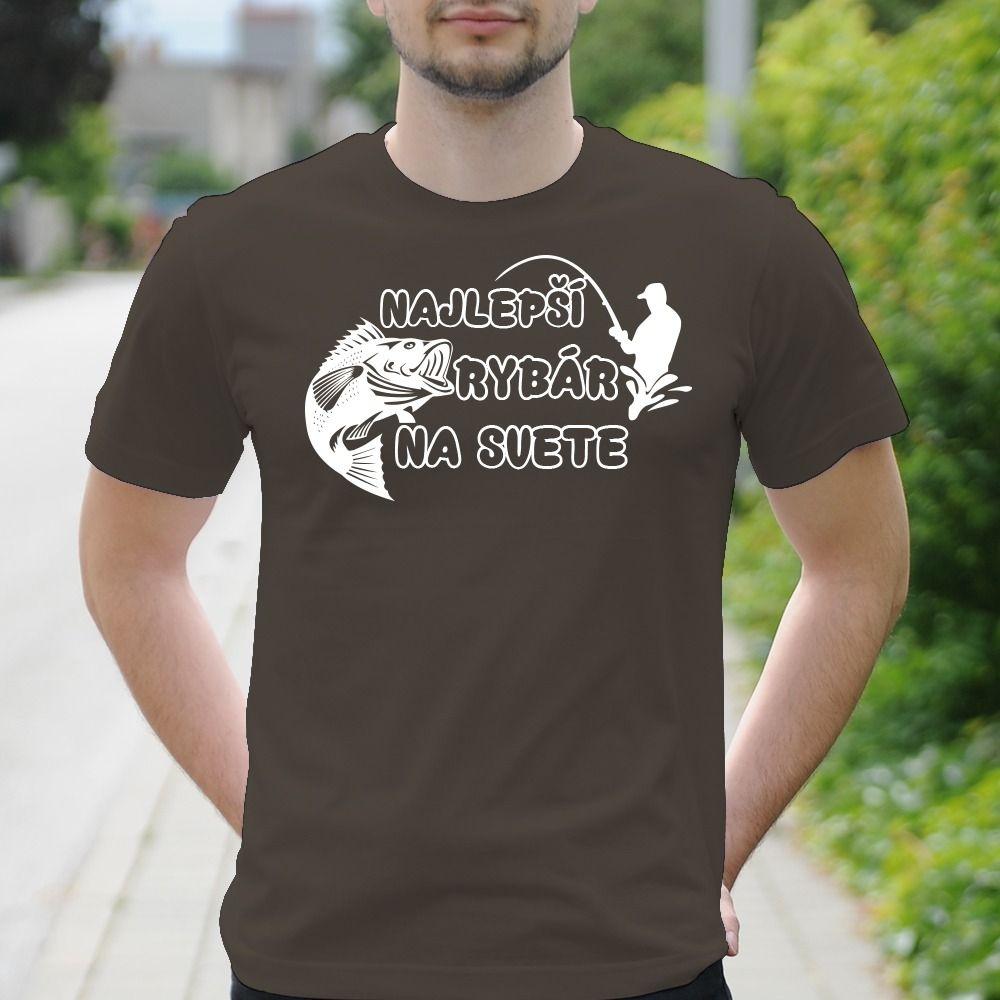 Pánske tričko s potlačou Najlepší rybár
