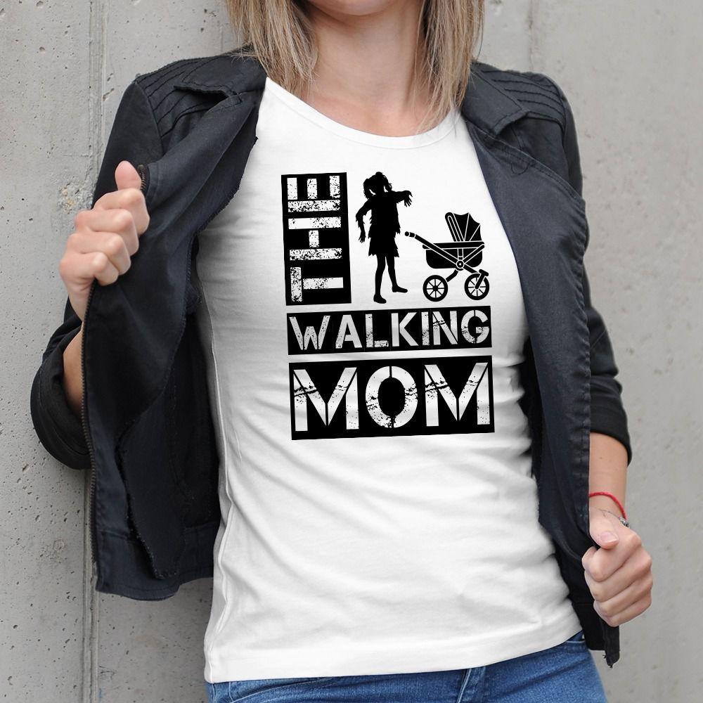 Dámske tričko s potlačou The Walking mom