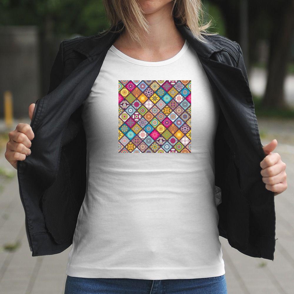 Dámske tričko s potlačou Mandala