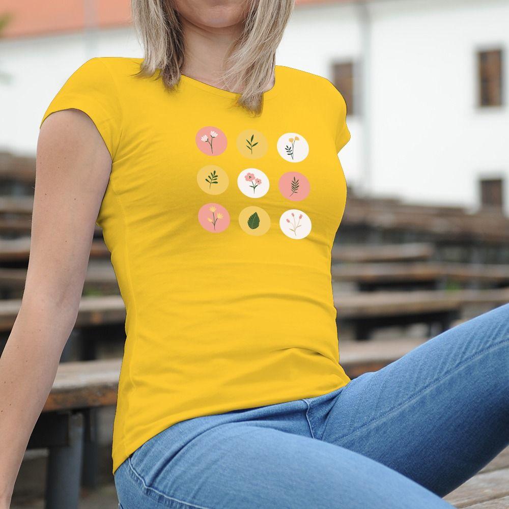 Dámske tričko s potlačou Obraz kvetov