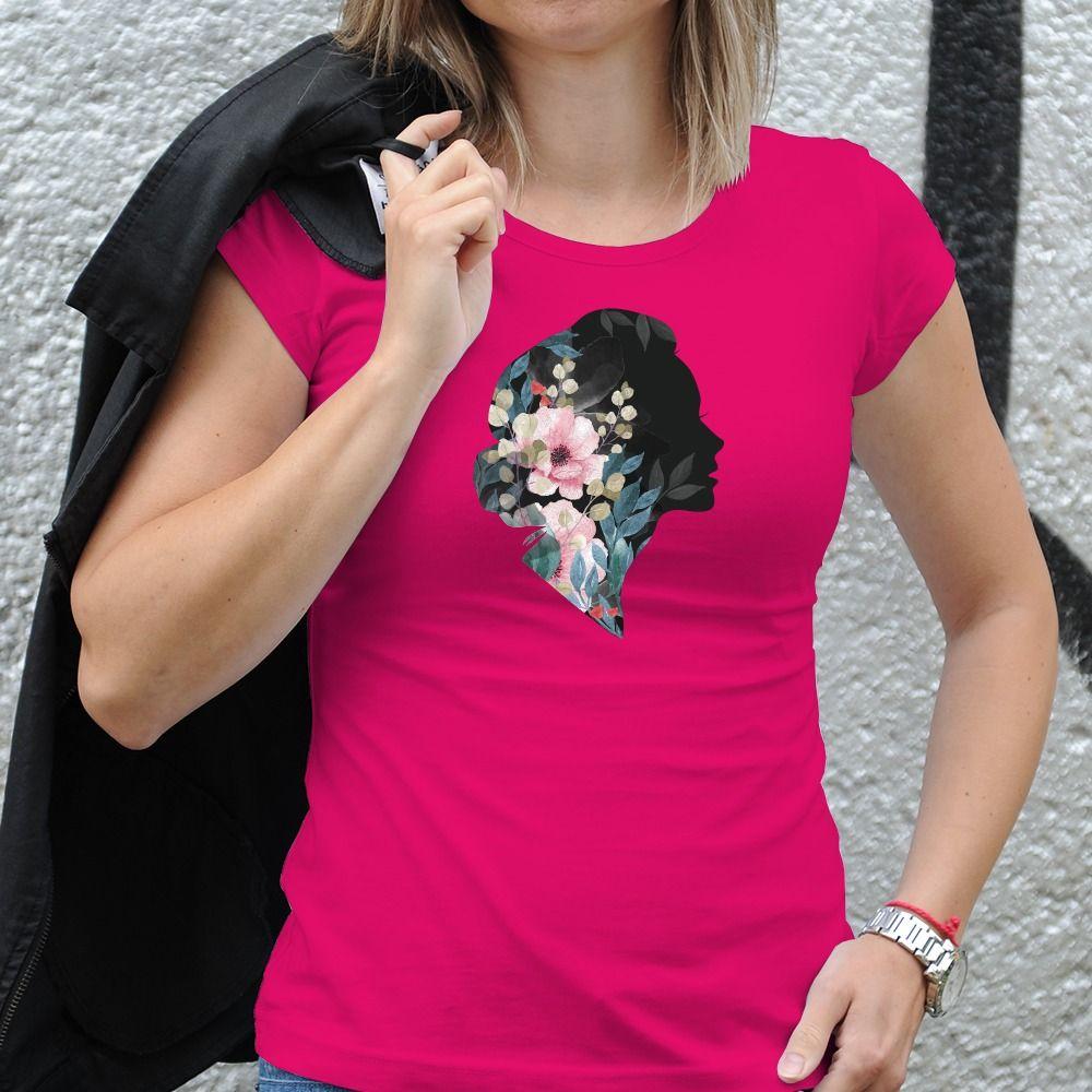Dámske tričko s potlačou Kvety