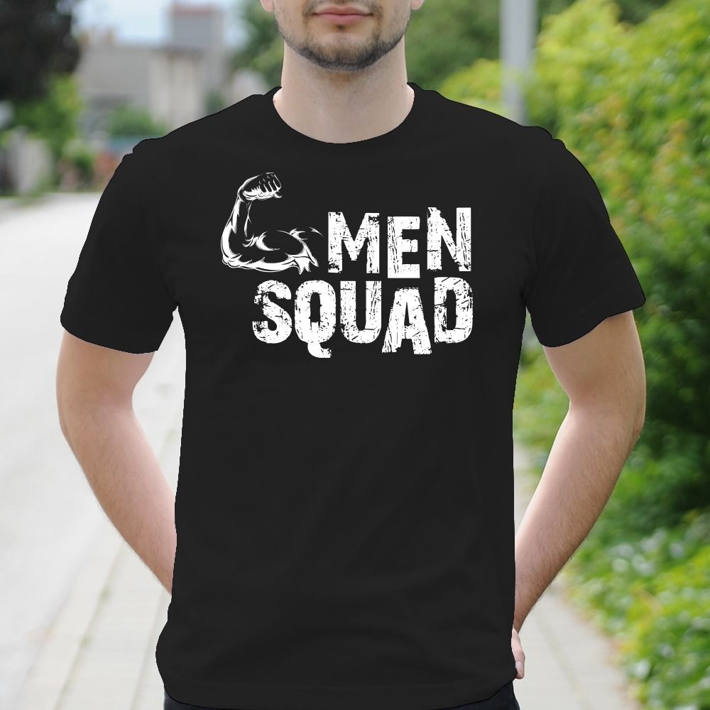 Pánske tričko s potlačou Men Squad