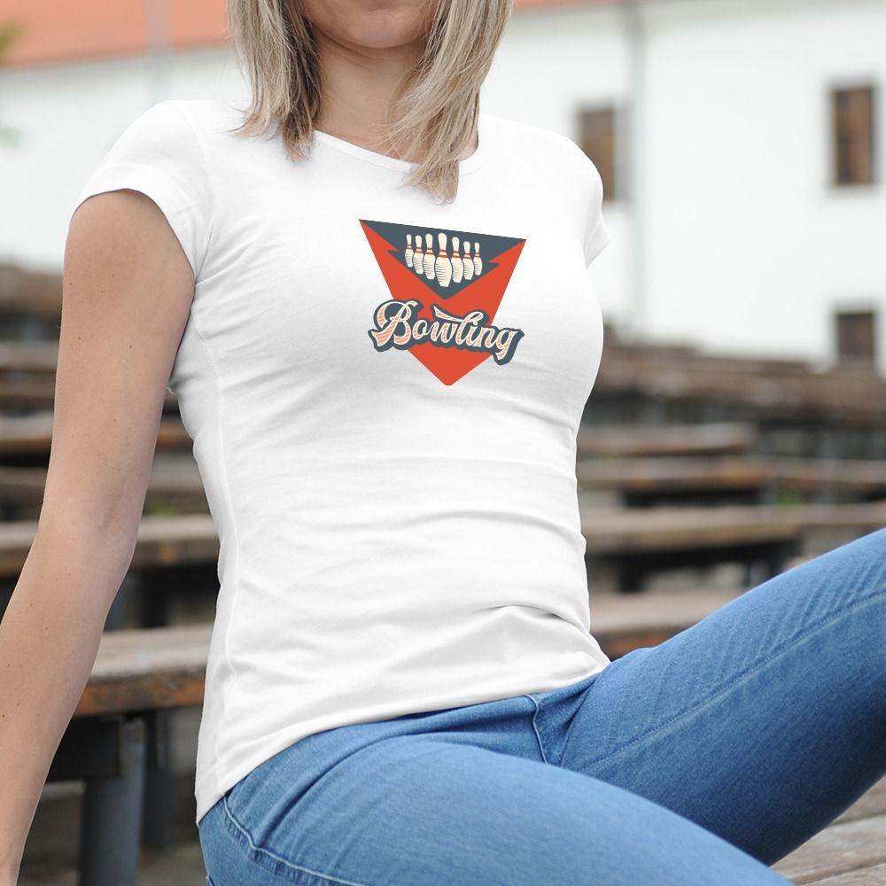 Dámske tričko s potlačou Bowling
