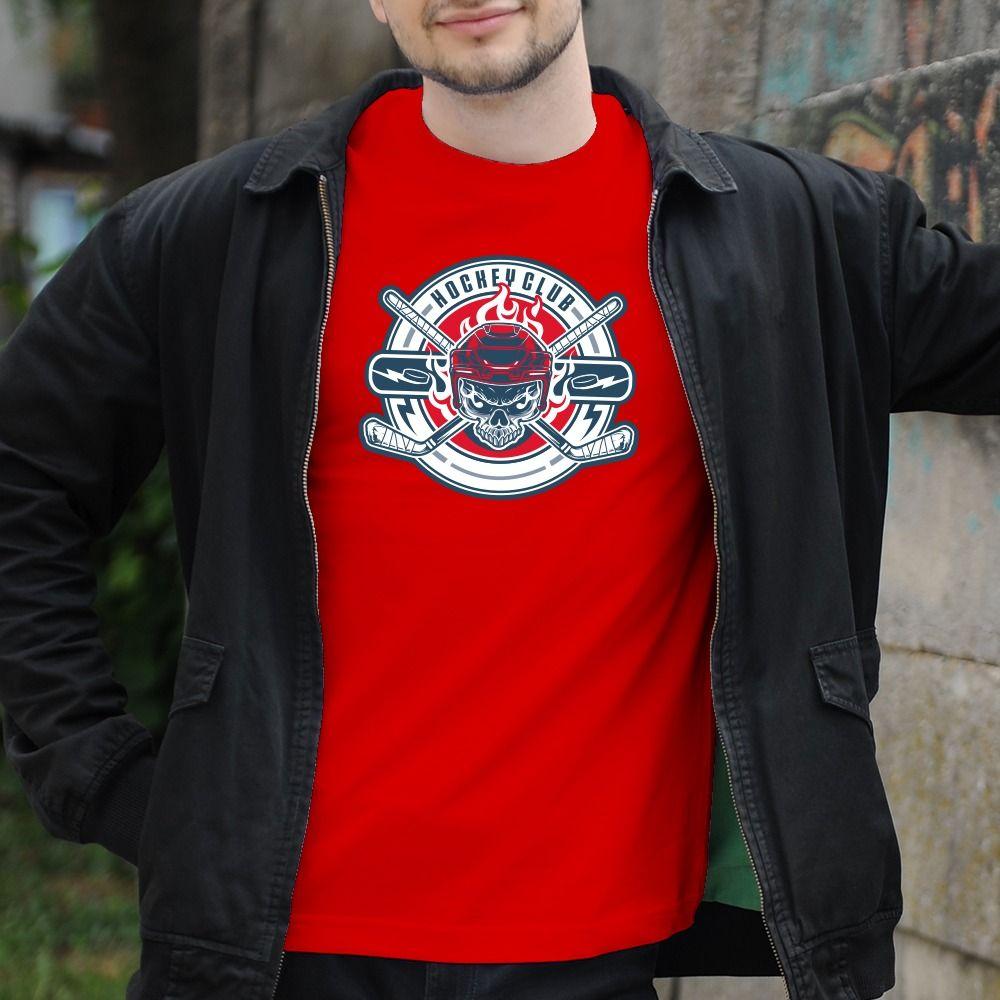 Pánske tričko s potlačou Hockey club
